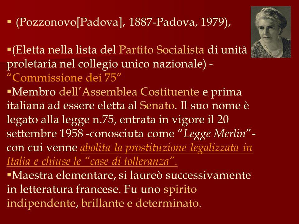 (Pozzonovo[Padova], 1887-Padova, 1979),